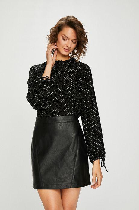 Woman's Bluzka damska czarna w kropki