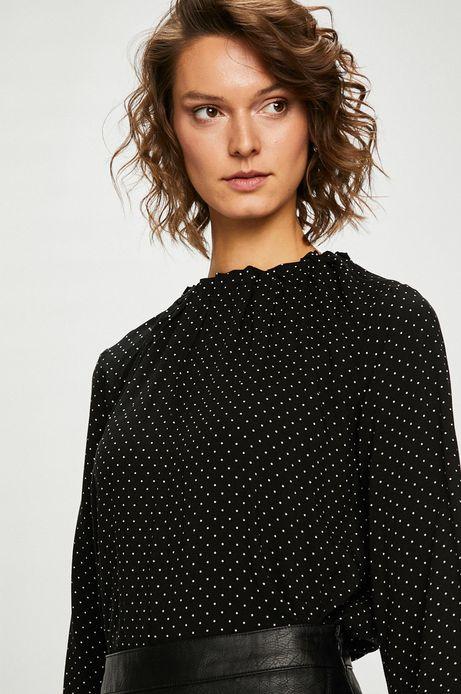 Bluzka damska czarna w kropki