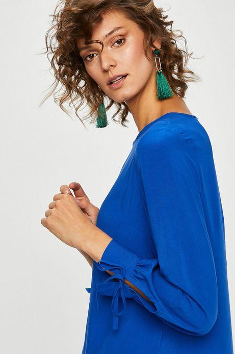 Woman's Bluzka damska niebieska gładka