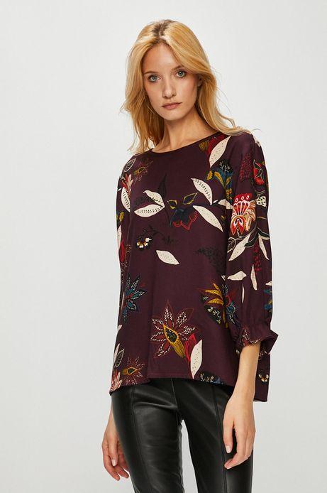 Koszula damska w kwiaty z ozdobnym wiązaniem
