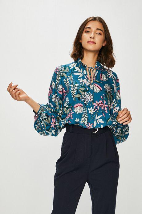 Bluzka damska wzorzysta z wiązaniem