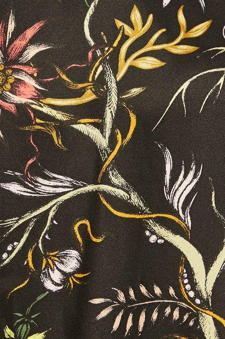 Koszula damska czarna ze spiczastym dekoltem w fasonie body