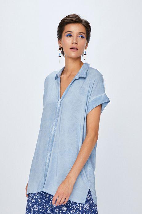 Koszula damska niebieska z krótkim rękawem
