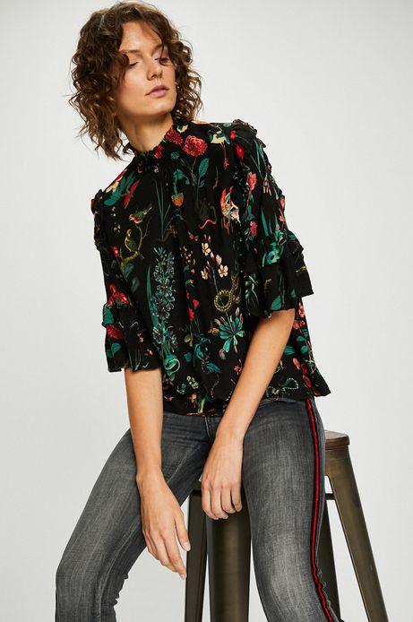 Bluzka damska we wzory z falbanami