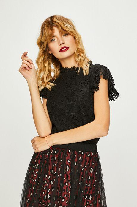 Koszula damska czarna koronkowa