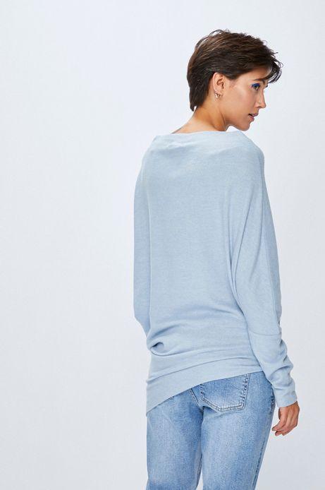 Sweter damski niebieski asymetryczny
