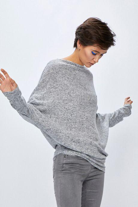 Sweter damski szary asymetryczny