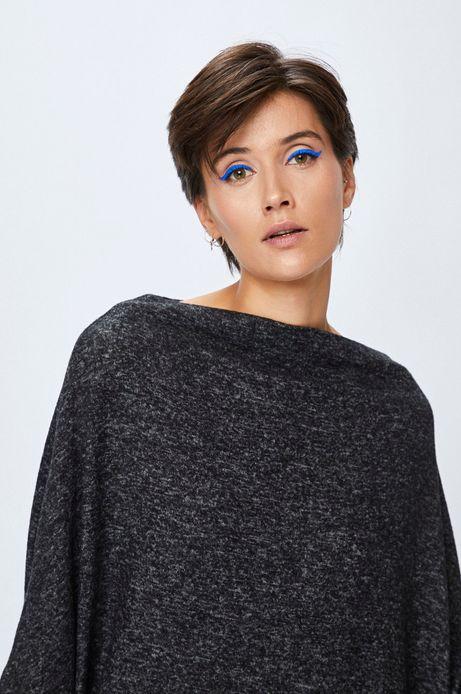 Sweter damski grafitowy asymetryczny