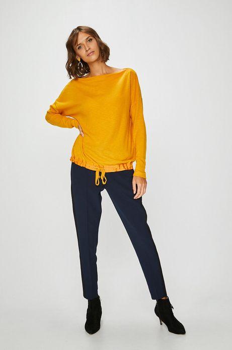 Woman's Bluza damska żółta ze ściągaczem u dołu