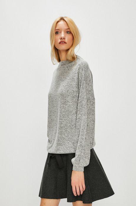 Bluza damska szara gładka