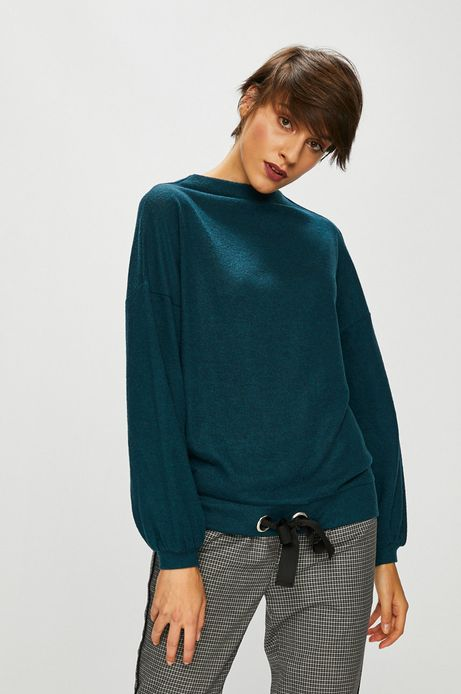 Bluza damska zielona gładka