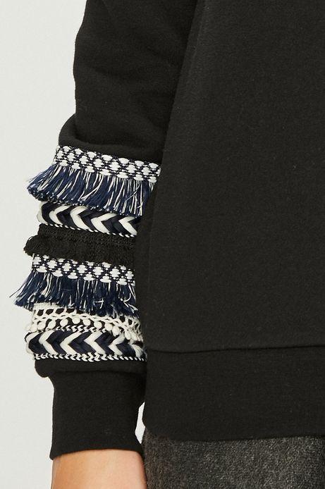 Bluza damska czarna z aplikacją