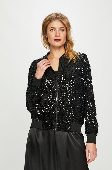 Bluza damska czarna z cekinami