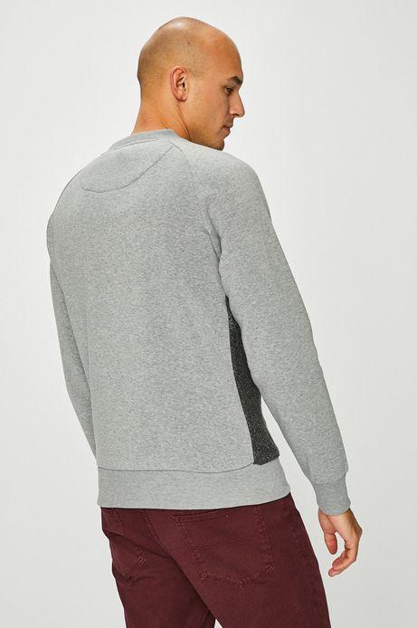 Bluza męska szara z okrągłym dekoltem