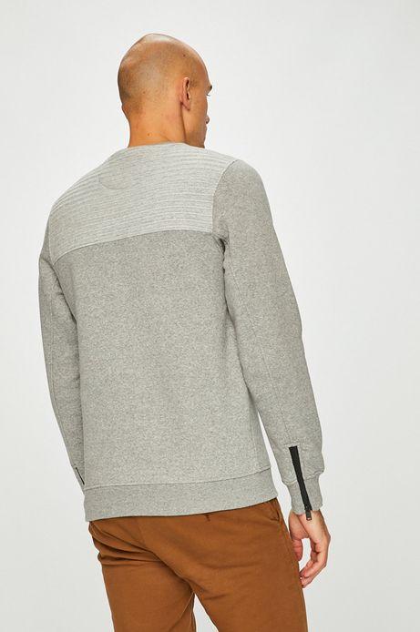 Bluza męska szara ze ściągaczami