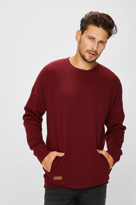 Bluza męska niezapinana bordowa gładka