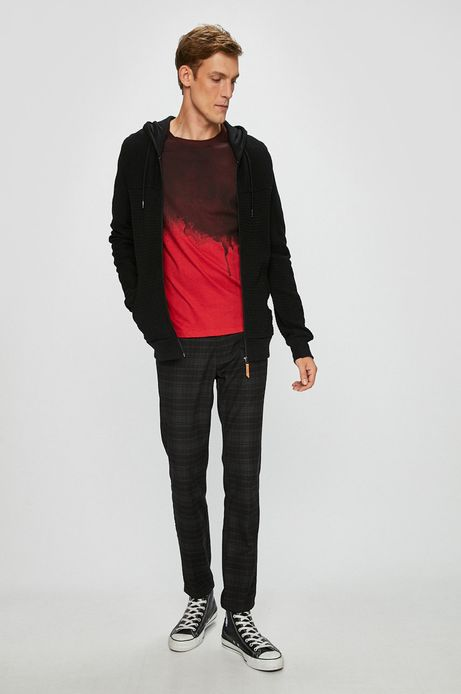 Bluza męska rozpinana czarna z fakturą
