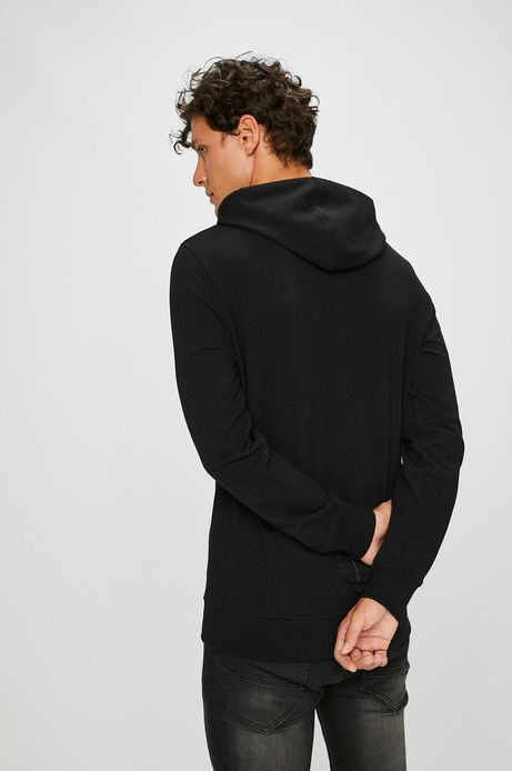 Bluza męska czarna z kapturem