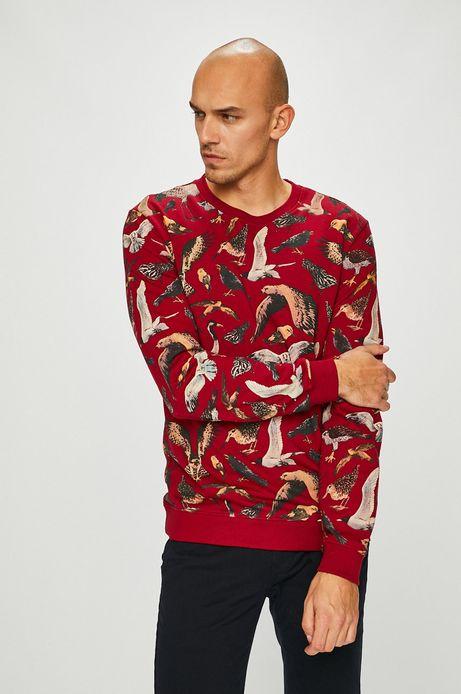 Bluza męska wzorzysta czerwona
