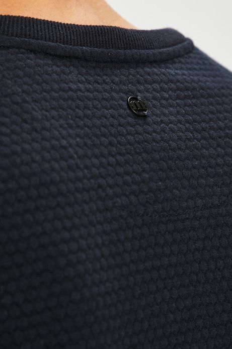 Bluza męska granatowa z pikowaną fakturą