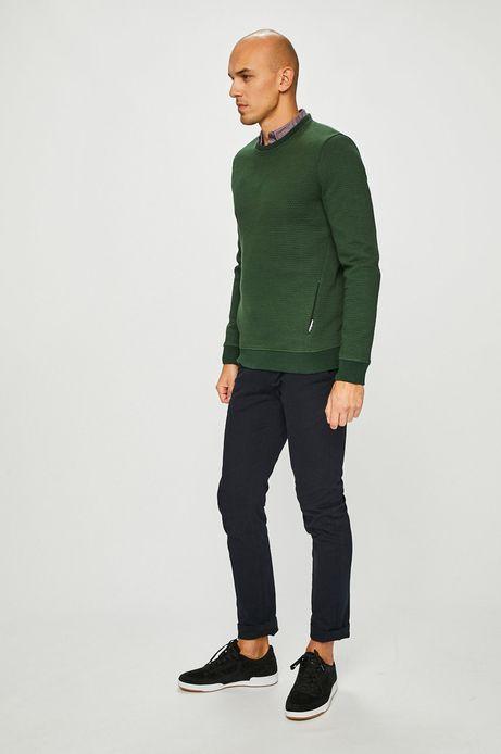 Bluza męska zielona z pikowaną fakturą