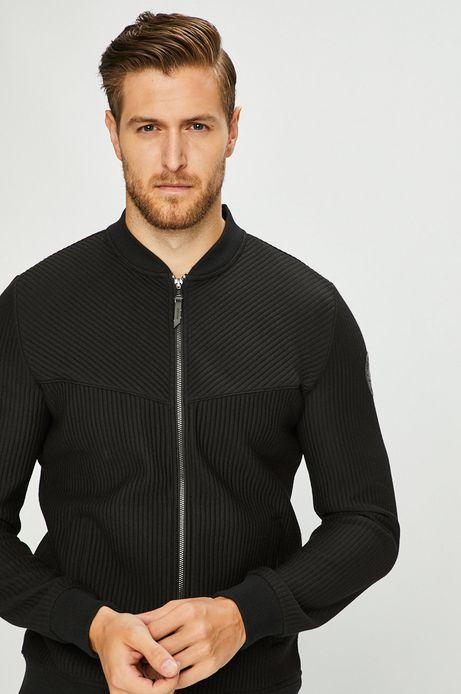 Bluza męska czarna zapinana na suwak