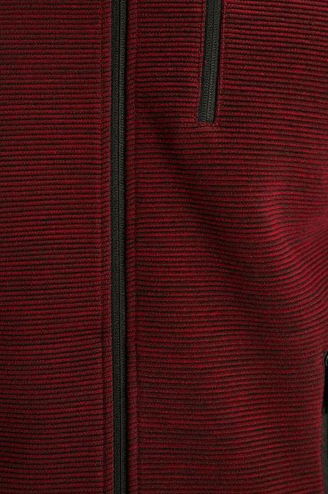 Bluza męska z fakturą zapinana na suwak bordowa