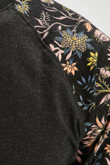 Bluza męska czarna z wzorzystymi rękawami