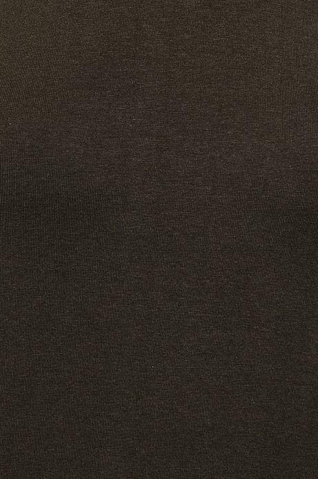 Bluzka damska czarna z dekoltem typu łódka