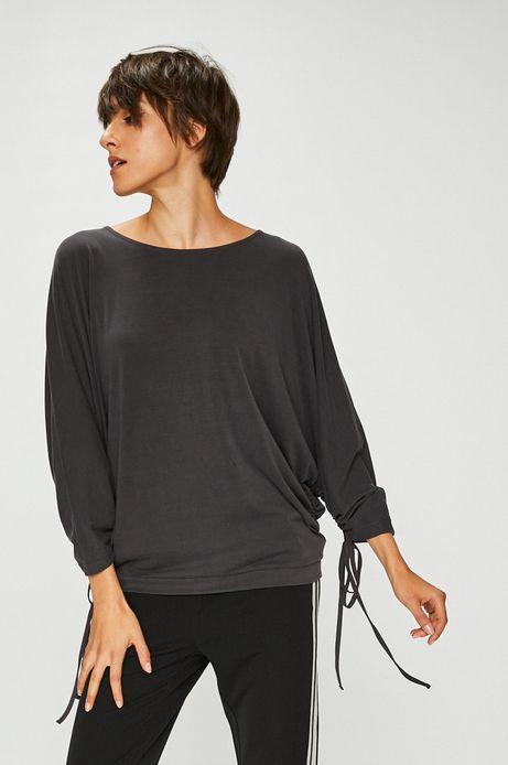 Bluzka damska szara luźna z wiązaniami