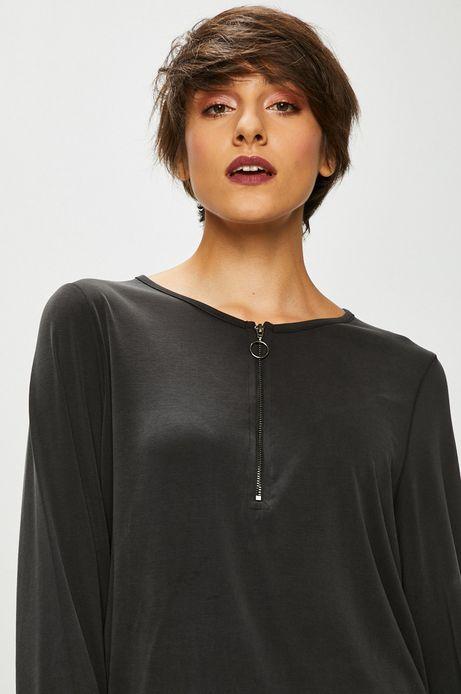 Bluzka damska szara z suwakiem