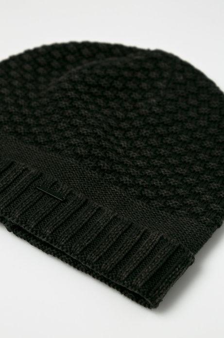 Czapka męska czarna cienka