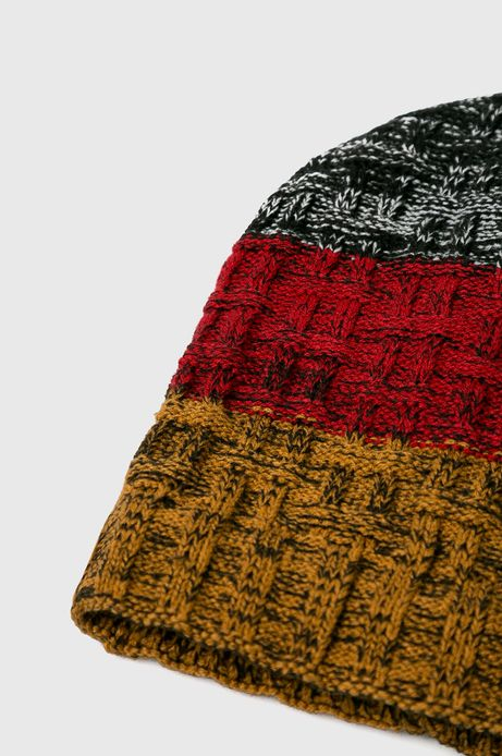 Czapka męska multicolor z dodatkowym ociepleniem