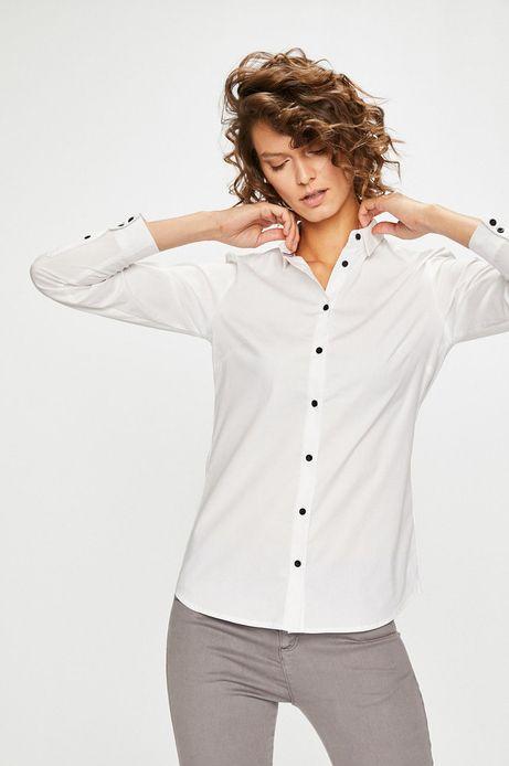 Woman's Koszula damska biała z miękkim kołnierzykiem