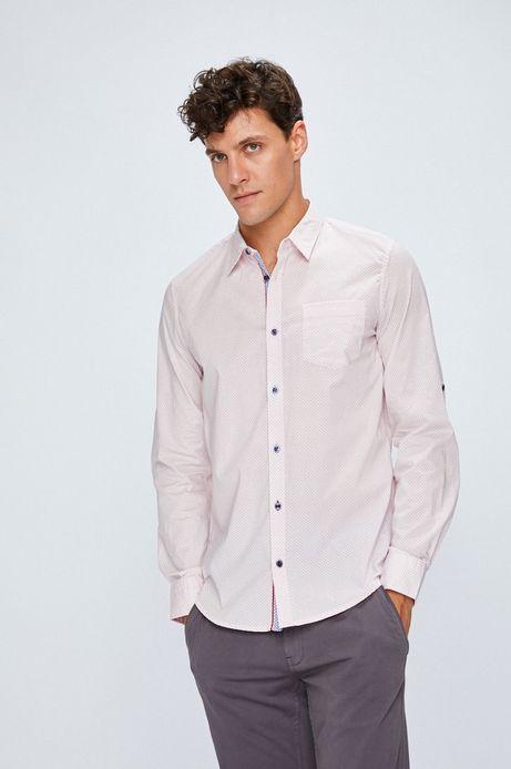 Man's Koszula męska różowa we wzorki