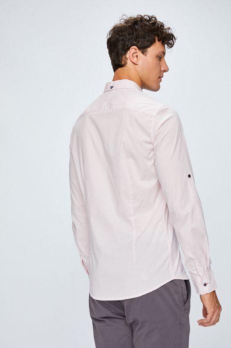 Koszula męska różowa we wzorki