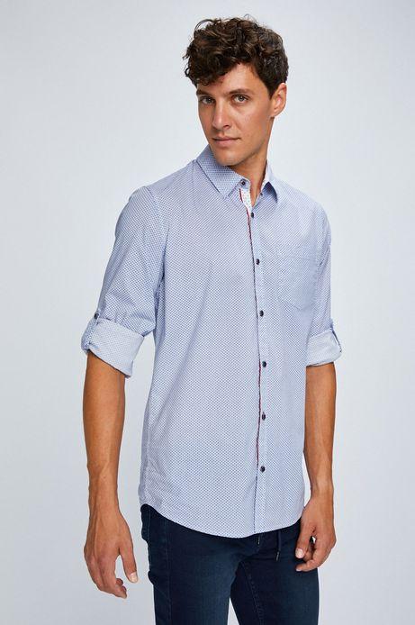 Man's Koszula męska niebieska we wzorki