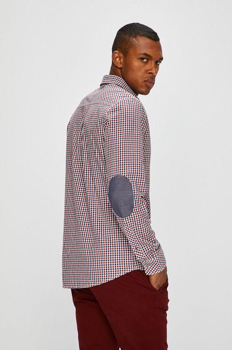 Man's Koszula męska czerwona w kratę