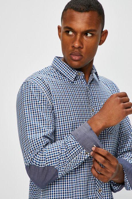 Man's Koszula męska niebieska w kratę