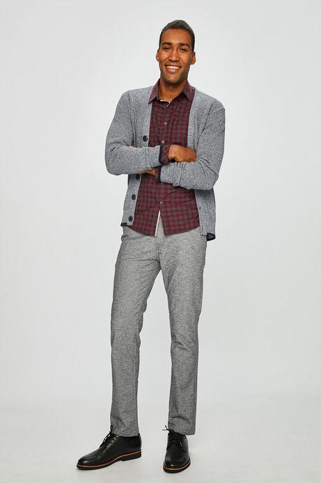 Koszula męska slim comfort czerwona w kratę