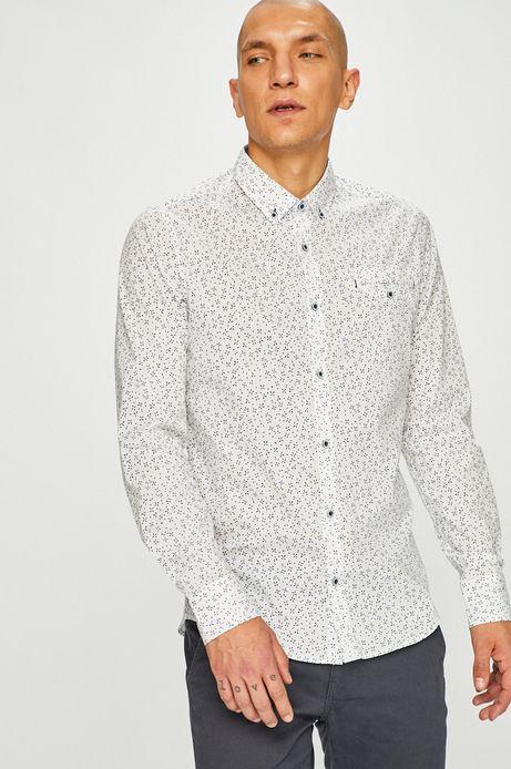 Koszula męska slim wzorzysta biała