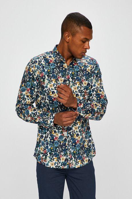 Man's Koszula męska multicolor wzorzysta
