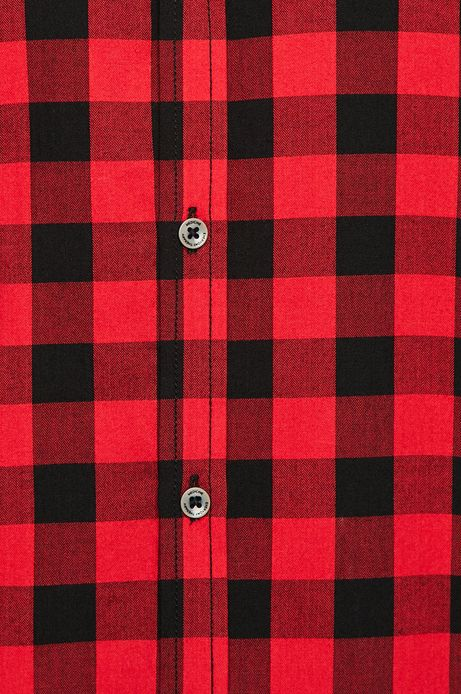 Koszula męska czerwona w kratę