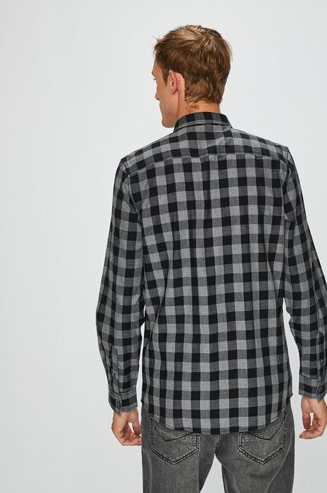 Koszula męska czarna w kratę