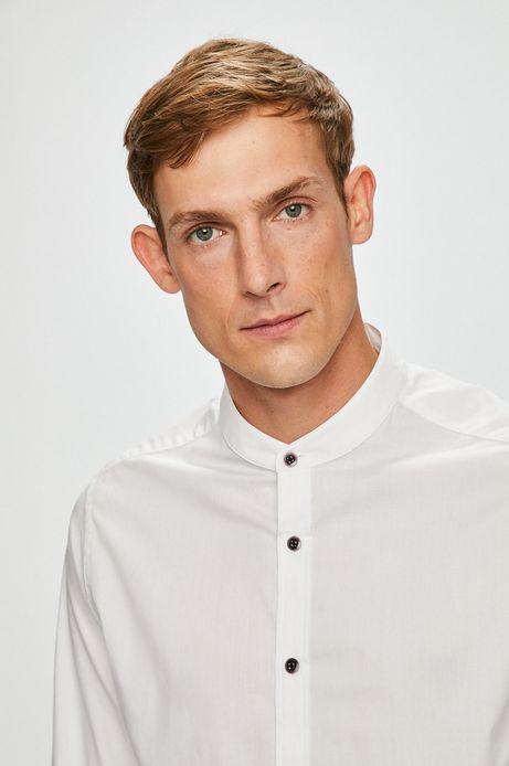 Koszula męska biała ze stójką