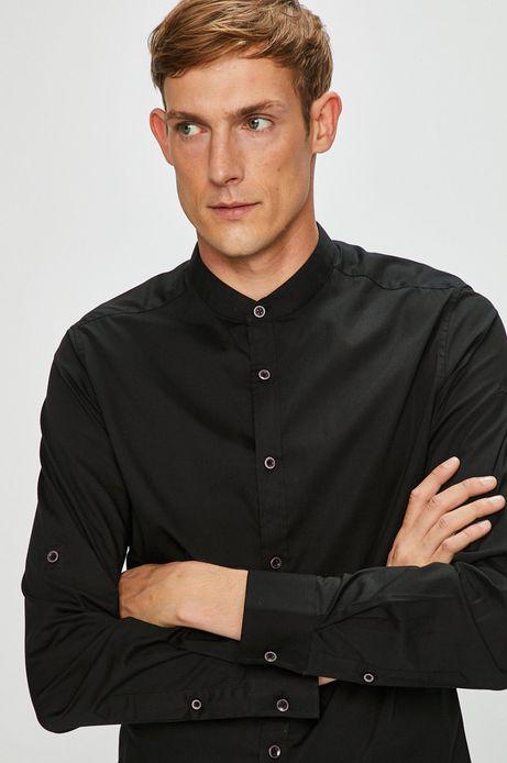 Koszula męska czarna ze stójką
