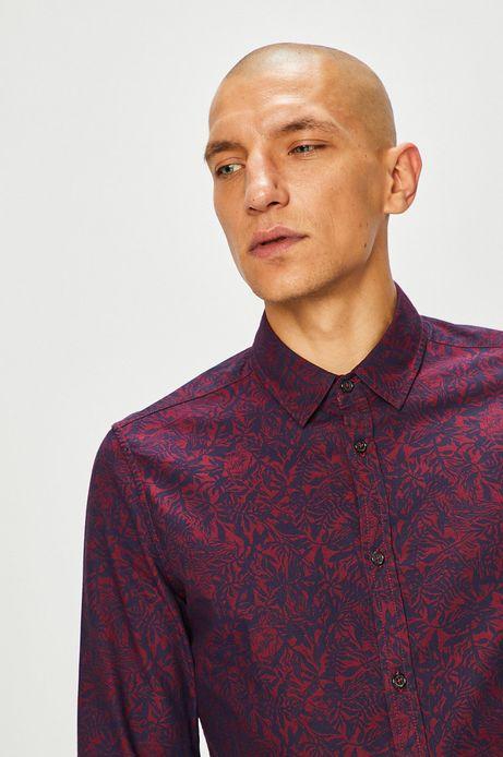 Koszula męska wzorzysta z klasycznym kołnierzykiem