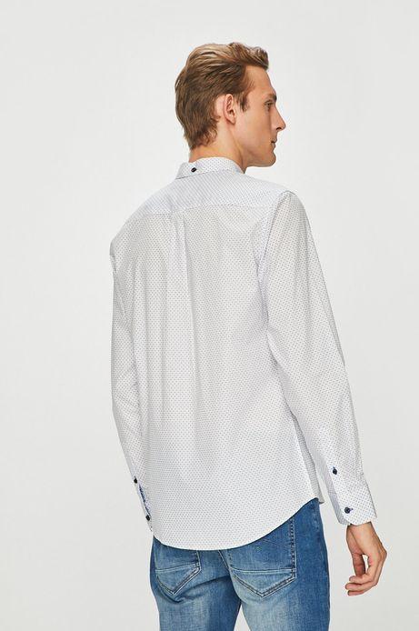 Koszula męska biała z klasycznym kołnierzykiem