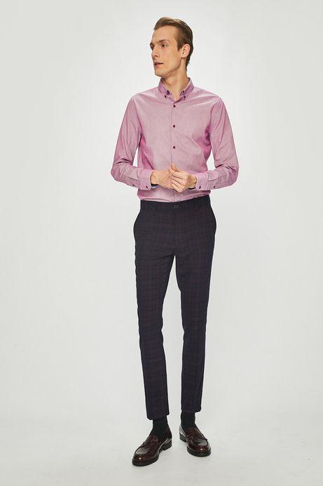 Koszula męska slim fit różowa
