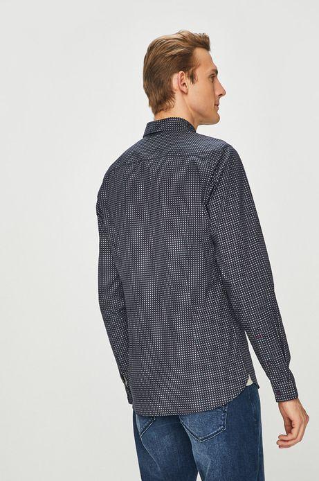 Koszula męska slim fit granatowa wzorzysta
